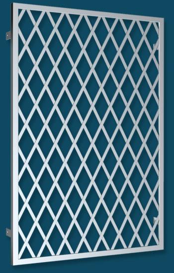 reja fija de hierro rectangular